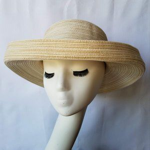 August Oatmeal Packable Polyester Sun Hat